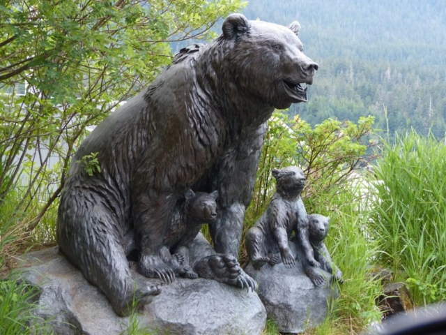 Gang of Four bronze sculpture in Juneau, Alaska