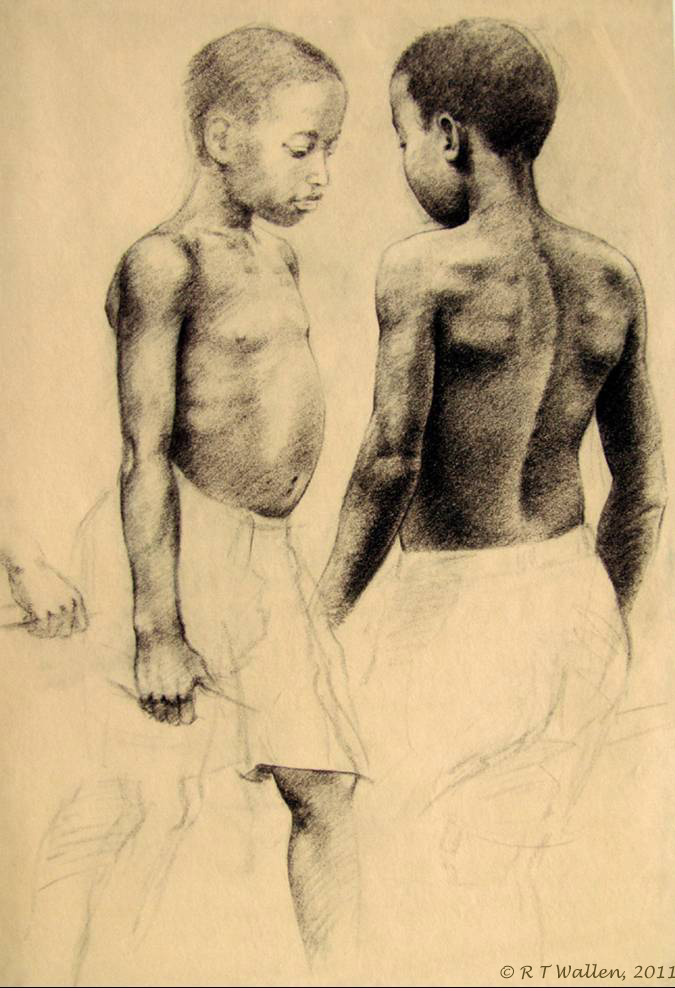 Charcoal study for Gift of Sight